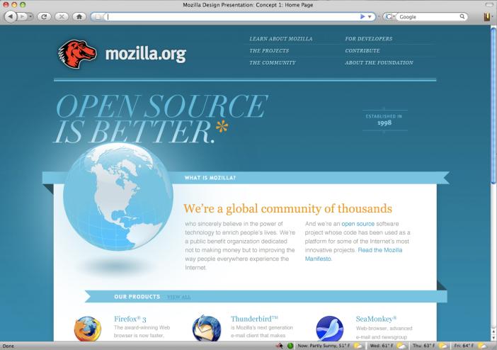 Concept 1: Established and Progressive Mozilla