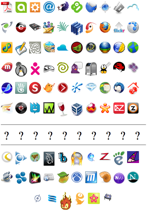 Some More Mozilla-Based Application Logos