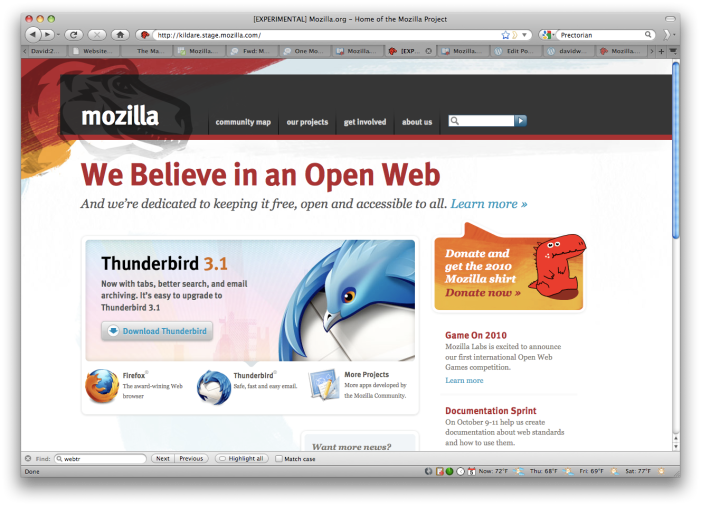 Help Us Test The New Mozilla org Home Page – davidwboswell